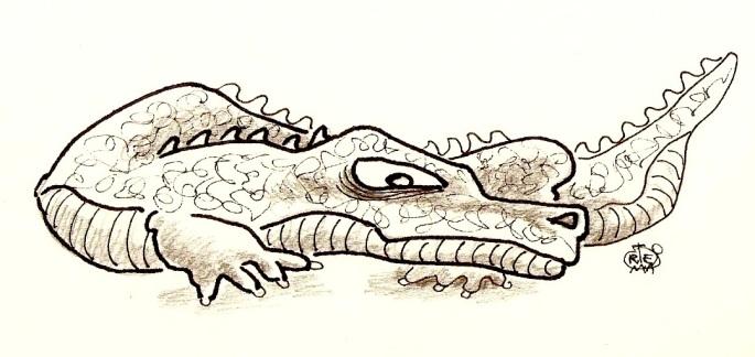 cocodrilo bravo